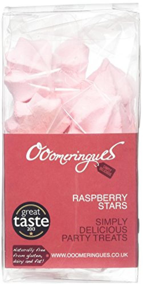 Ooomeringues Raspberry Stars 35g