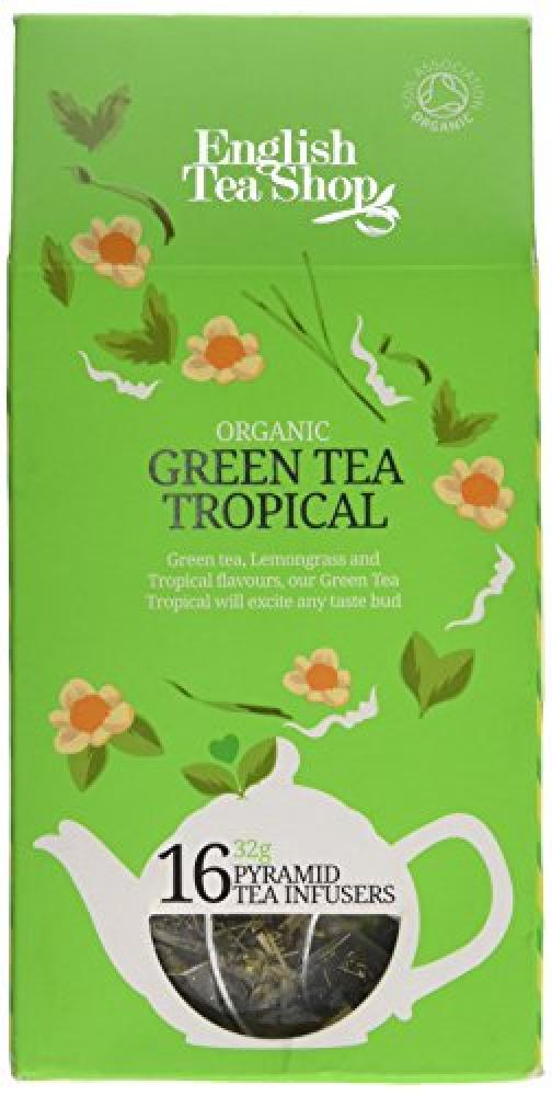 English Tea Shop Organic Fairtrade Tropical Green Tea 30g