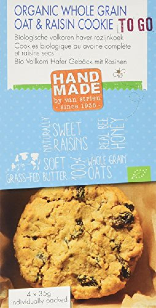 Van Strien All Butter Organic Whole Oat and Raisin Cookie 140 g