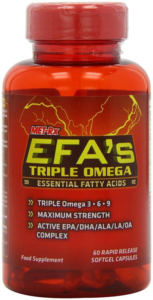 MET-Rx EFAs Essential Fatty Acid Capsules - Tub of 60