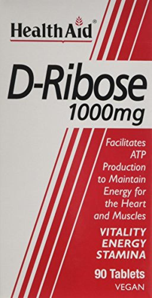 HealthAid Vegan D-Ribose 1000mg Tablets - (Pack of 90 Tablets)