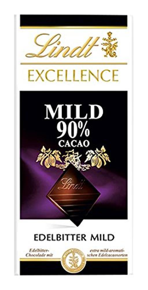 Lindt Excellence 90 Cocoa Dark Chocolate Bar 100 g