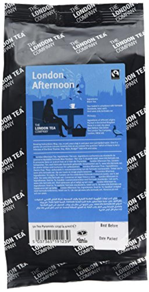 The London Tea Company Fairtrade London Afternoon 50 Pyramid Teabags