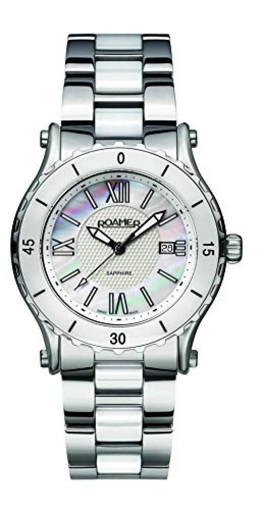 Roamer Womens Quartz Watch with Mother Of Pearl Dial Analogue Display and Stainless Steel Bracelet