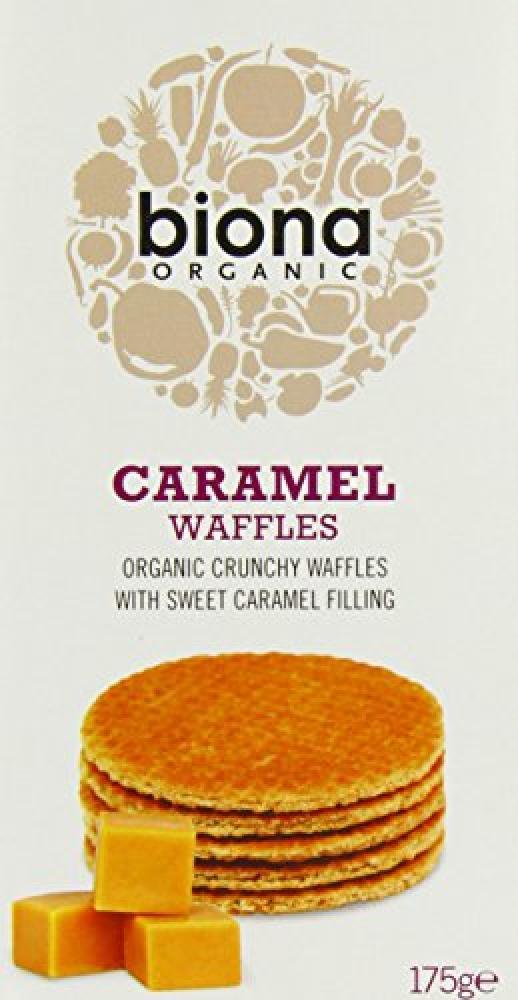Biona Organic Caramel Waffles 175g