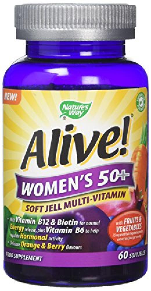 Natures way Alive 50 Plus Women Soft Jells - Pack of 60 Tablets