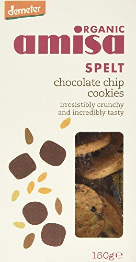 Amisa Organic Spelt Chocolate Chip Cookies 150 g