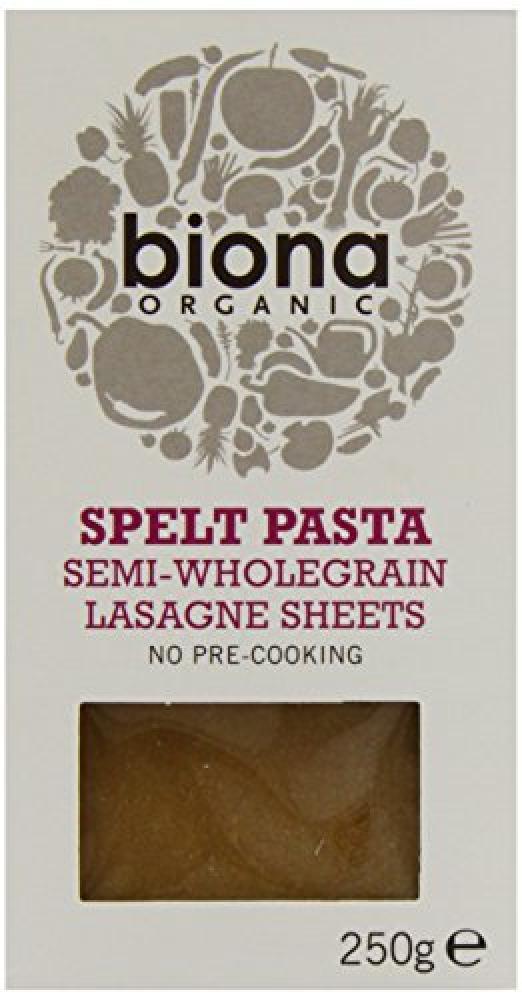 Biona Spelt Pasta Semi Wholegrain Lasagne Sheets 250g