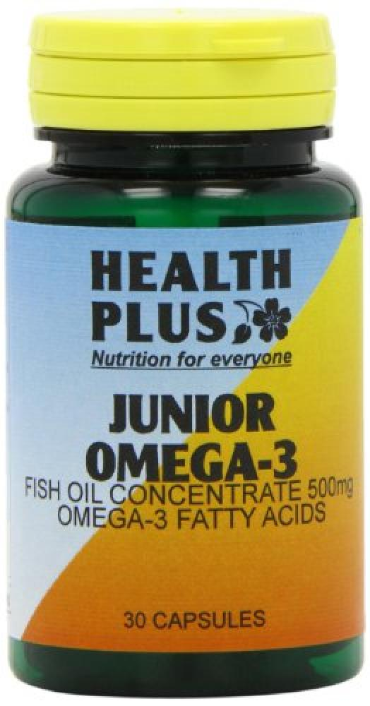 Health Plus Junior Omega-3 One-a-Day Childrens Fish Oil Supplement 30 Capsules