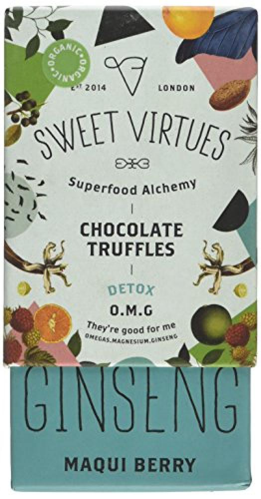FURTHER REDUCTION  Sweet Virtues Superfood Chocolate Truffles Maqui Berry 115 g