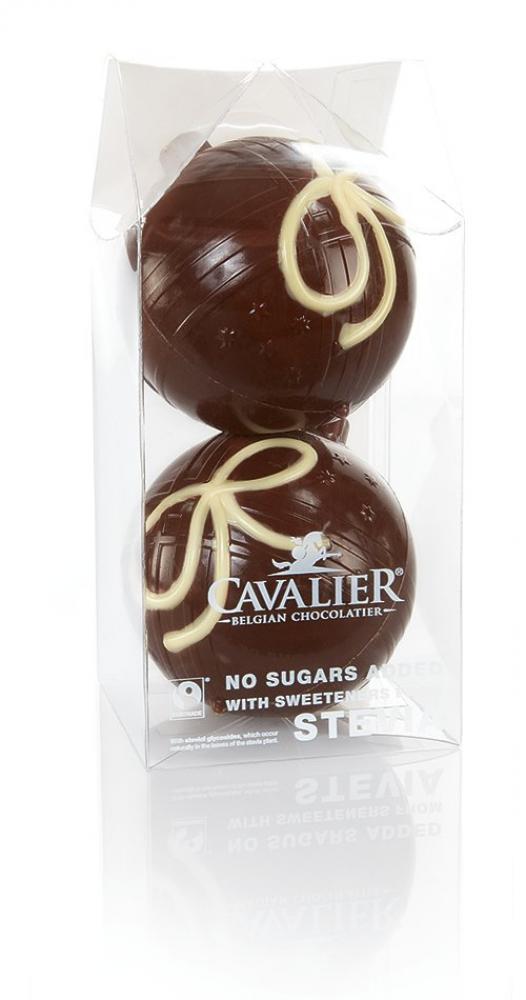 Cavalier Stevia Milk Chocolate Hollow Christmas Baubles 100g