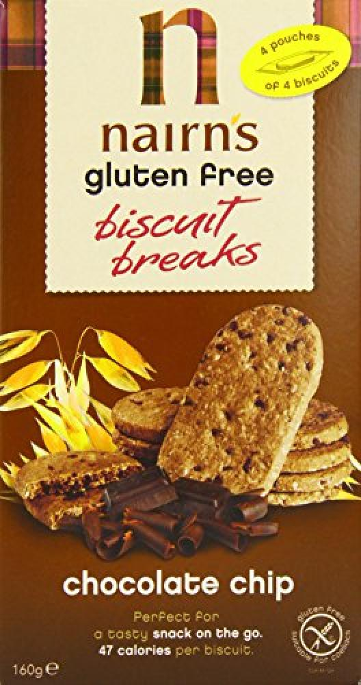 Nairns Gluten Free Biscuit Break Chocolate Chip 160 g