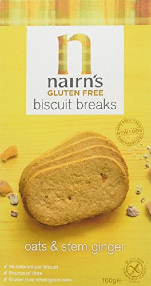 Nairns Gluten Free Ginger Biscuit Breaks 160g