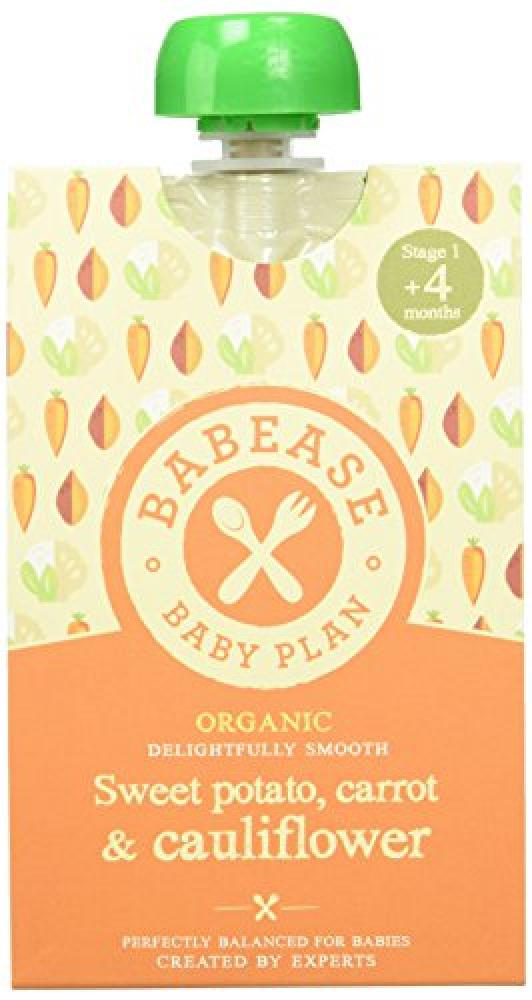 Babease Organic Stage 1 Baby FoodSweet PotatoCarrot and Cauliflower 100 g