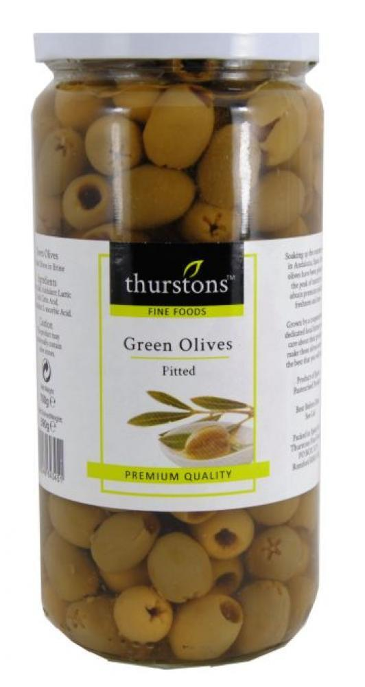 Thurstons Green Olives Pitted 440g