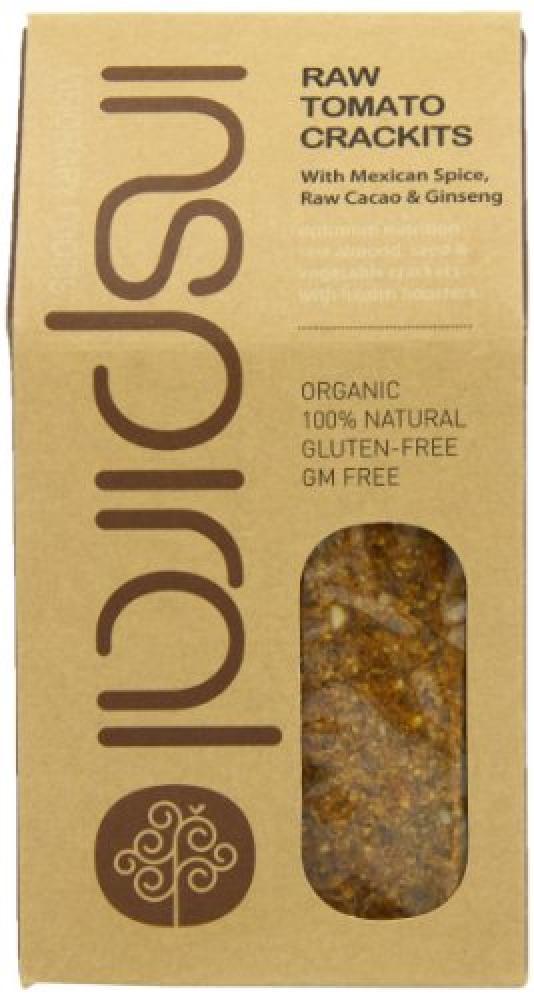 Inspiral Raw Organic Artisan Crackers Tomato Crackits