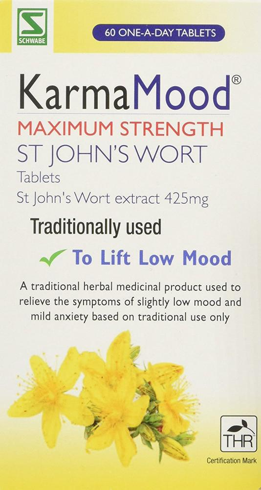 Schwabe KarmaMood Maximum Strength St Johns Wort Extract 425mg Tablets - Pack of 60 Tablets