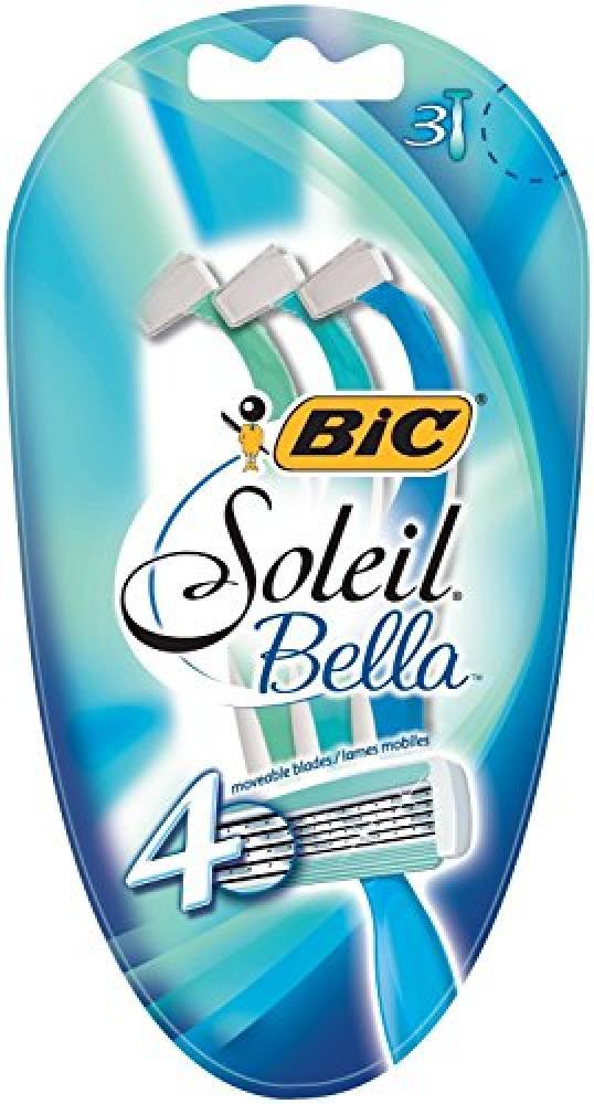 Bic Soleil Bella Lady Quadruple Blade Disposable Shaver_2 Packs for 3 razors (6 razors)Blister of 3