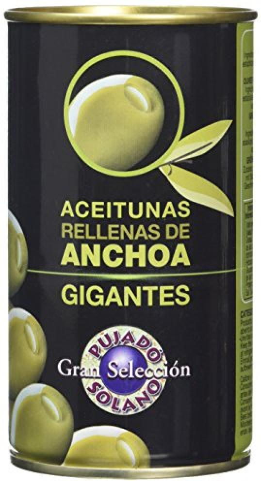 Pujado Solano Green Olives Stuffed With Anchovies 370ml