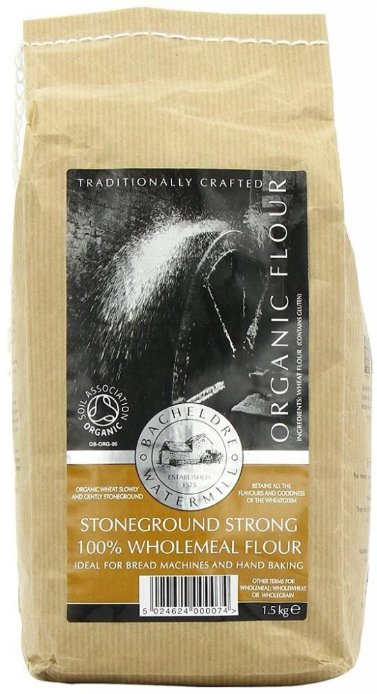 Bacheldre Watermill Organic Stoneground Strong 100 Percent Wholemeal Flour 1.5Kg