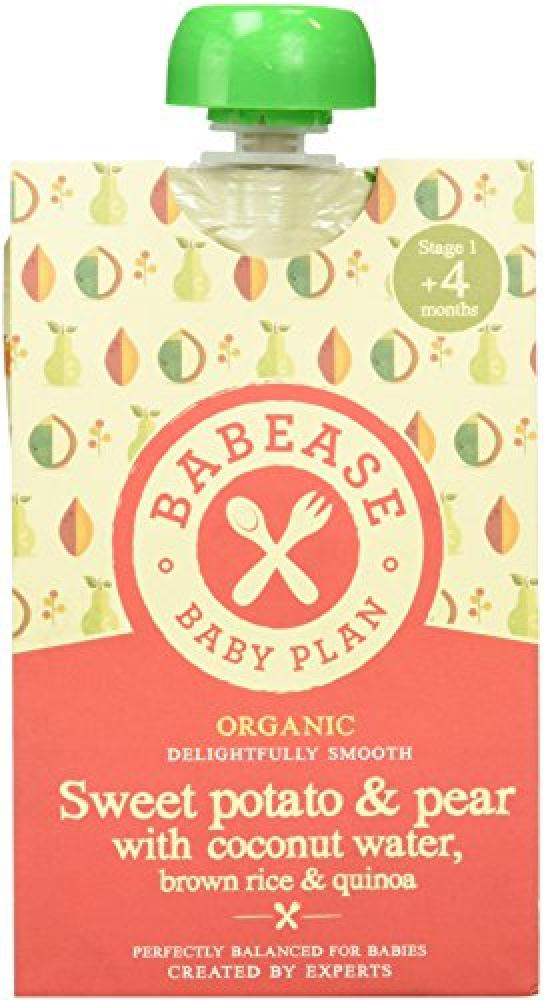 Babease Organic Stage 1 Baby FoodSweet PotatoPearRice and Quinoa 100 g 100g