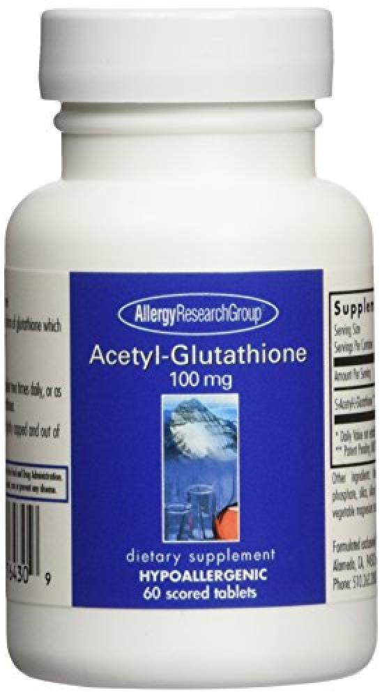 Allergy Research Group Acetyl-Glutathione 100 mg 60 tabs
