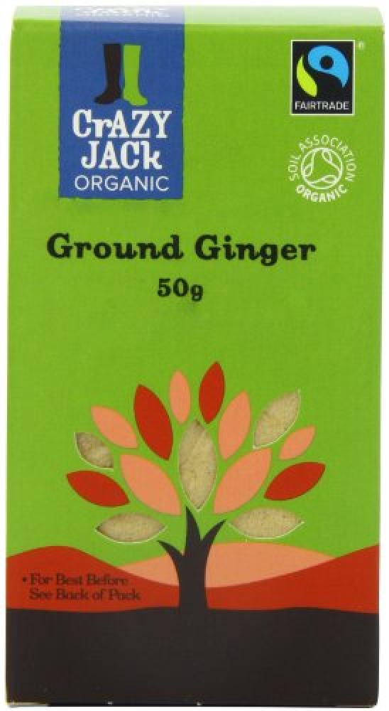 Crazy Jack Organic Fairtrade Ground Ginger 50 g
