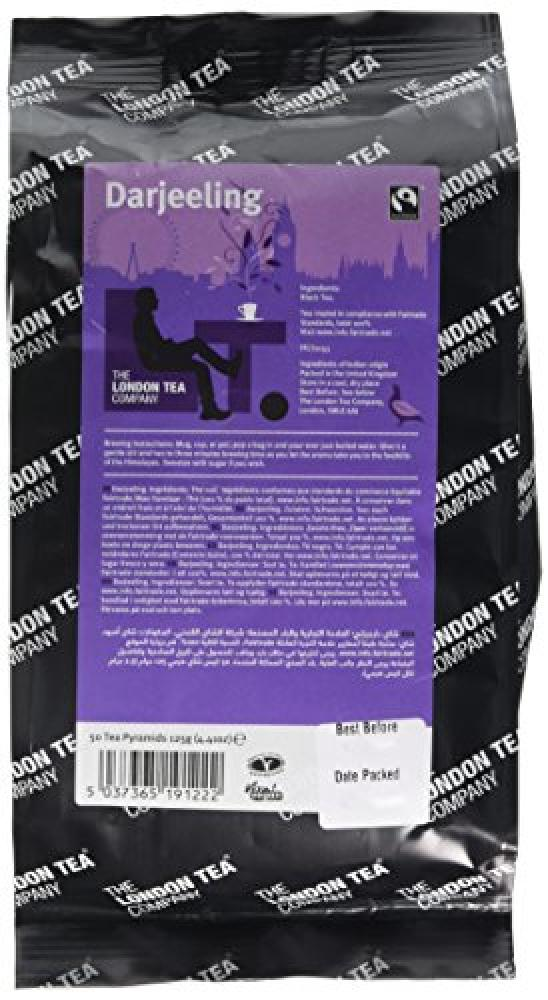 The London Tea Company Fairtrade Darjeeling 50 Pyramid Teabags