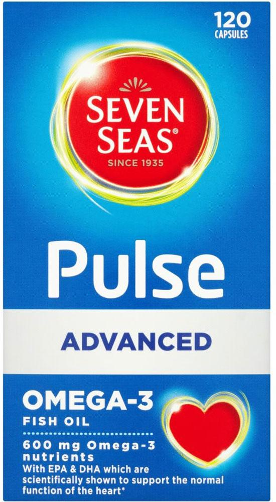 FURTHER REDUCTION  Seven Seas Pulse Advanced Omega 3 Pure Fish Oils with Vitamin E 120 capsules