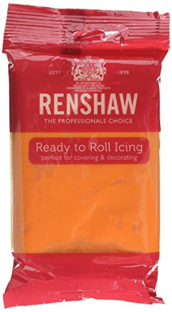Renshaw Edible Tiger Orange Ready to Roll Fondant Icing 250g