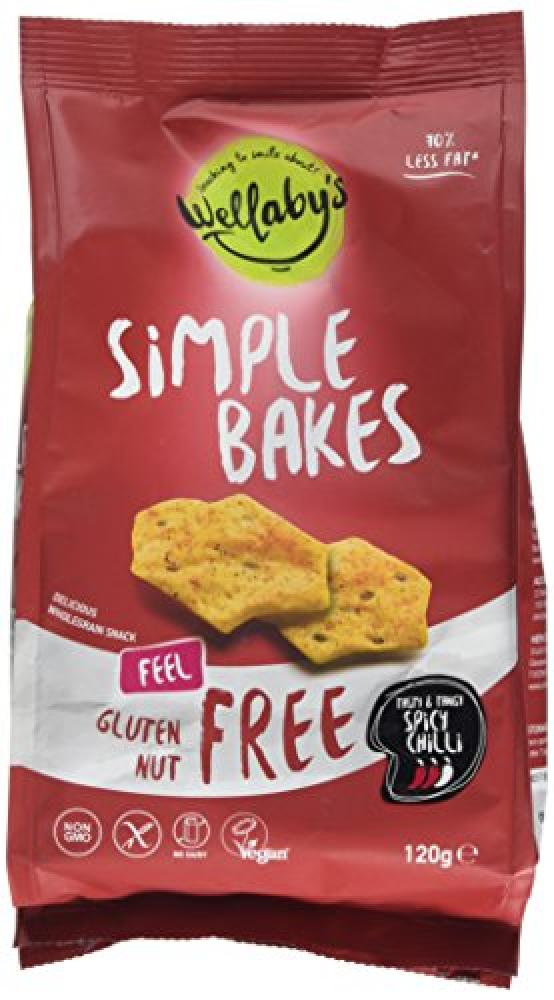 Wellabys Simple Bakes Spicy Chilli Snacks 120g