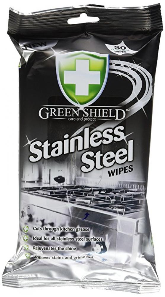 Green Shield Stainless Steel Wipes pack of 50