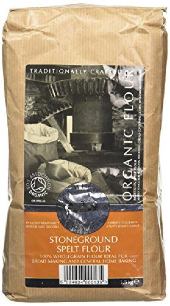Bacheldre Watermill Organic Stoneground Wholegrain Spelt Flour 1500g