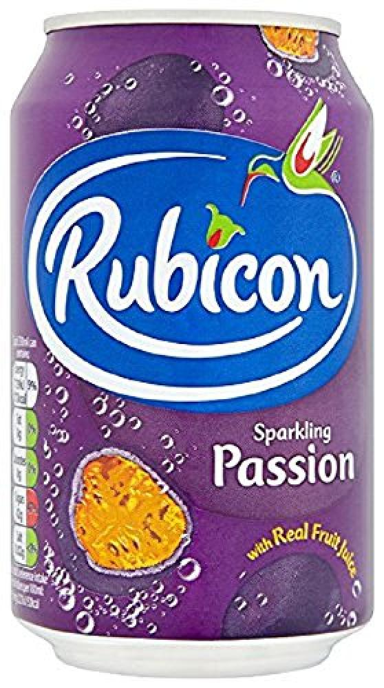 Rubicon Sparkling Passion Fruit Juice Drink Cans 330ml