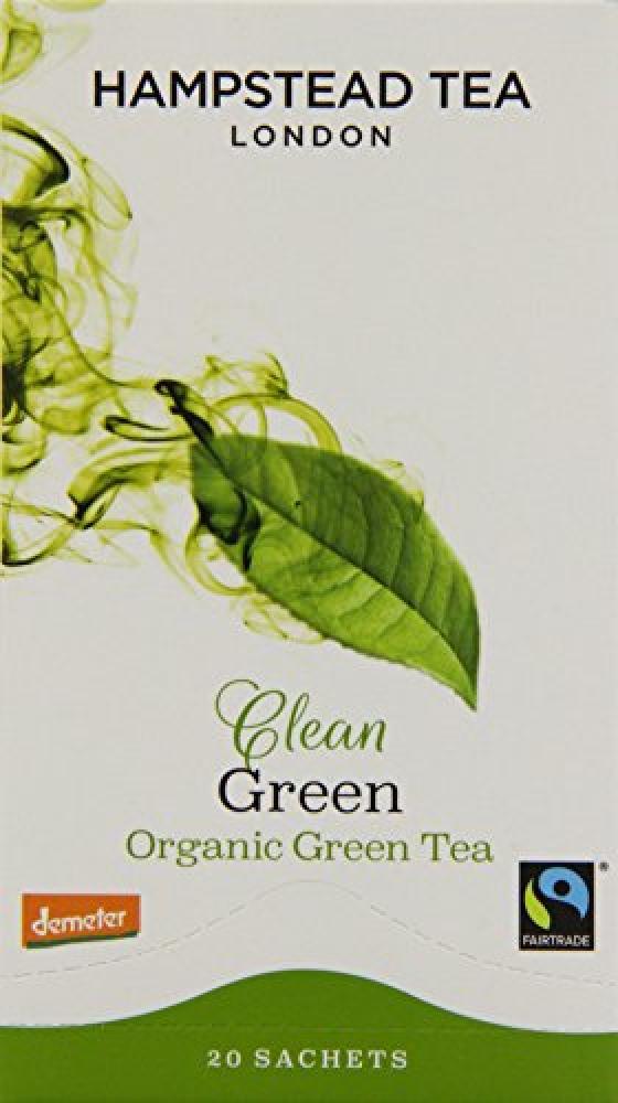 Hampstead Tea Zesty Ginger Green Organic Green Tea 20 Sachets 40g