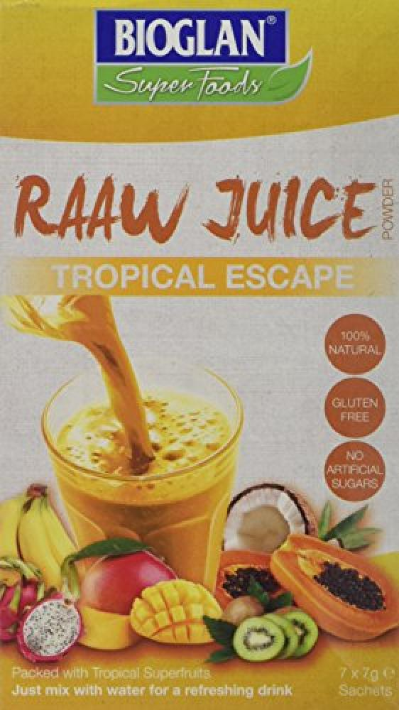 FURTHER REDUCTION  Bioglan Tropical Escape Superfoods Raw Juice