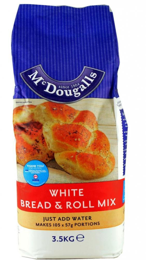 Mcdougalls White Bread and Roll Mix 3.5kg