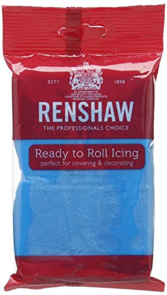 Renshaw Turquoise Blue Ready to Roll Fondant Icing 250 g