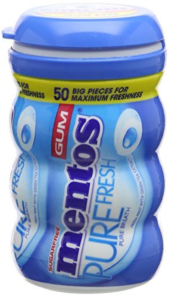 Mentos Sugar Free Chewing Gum Bottle ( 50-Piece) Pure Fresh