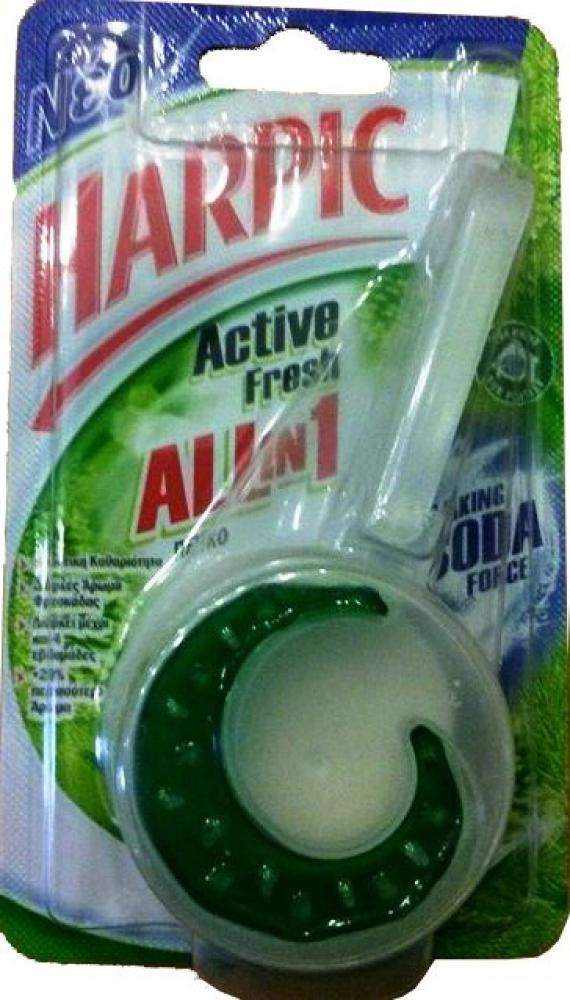 Harpic Active Fresh All In 1 Rim Block Rainforest 34g