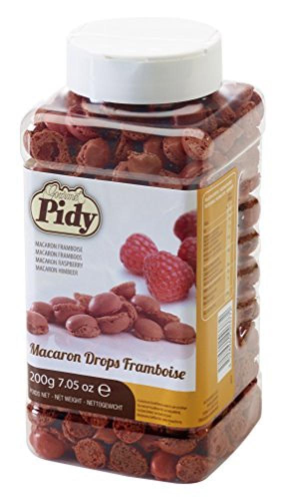 Pidy Mini Raspberry Macaron Drops Framboise 200g