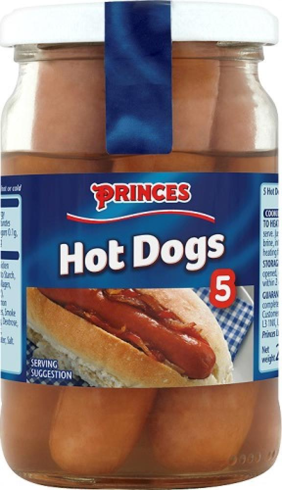 Princes 5 Hot Dogs 270g