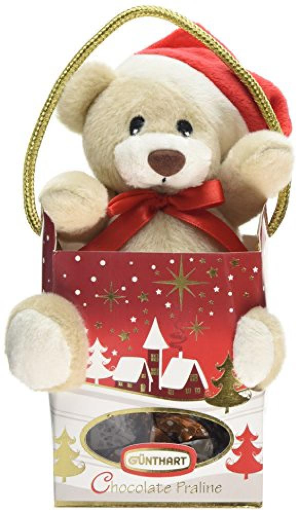 Gunthart Plush Brown Santa Bear in Box with Pralines 45g