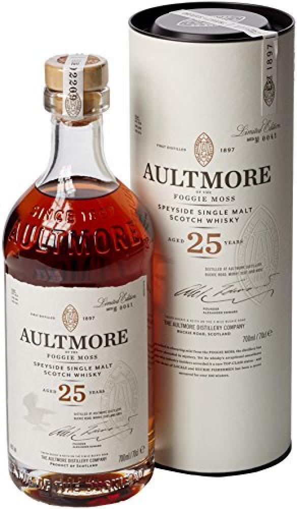 Aultmore 25 Year Old Speyside Single Malt Scotch Whisky 700ml