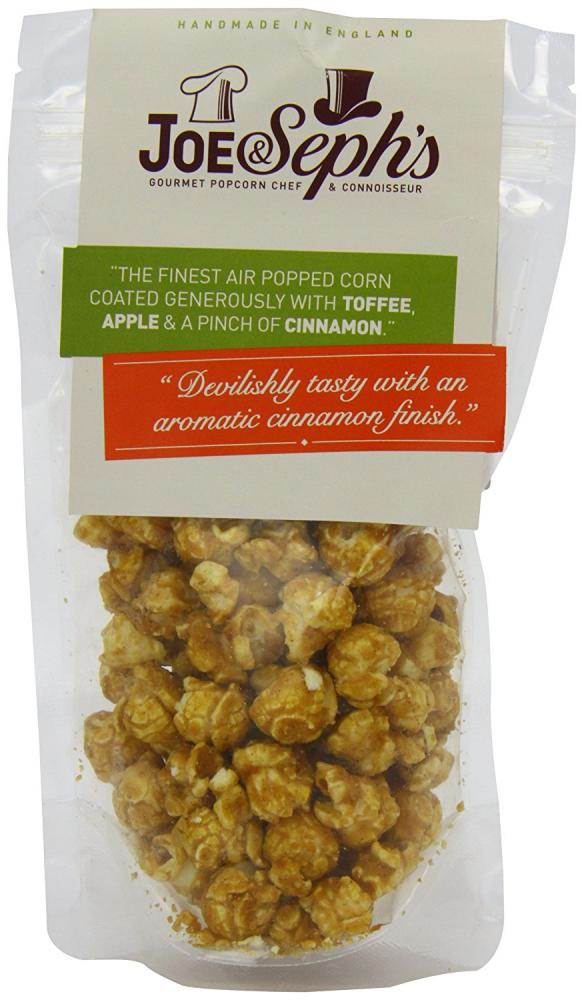 Joe and Sephs Popcorn Pouch Toffee Apple And Cinnamon 80g