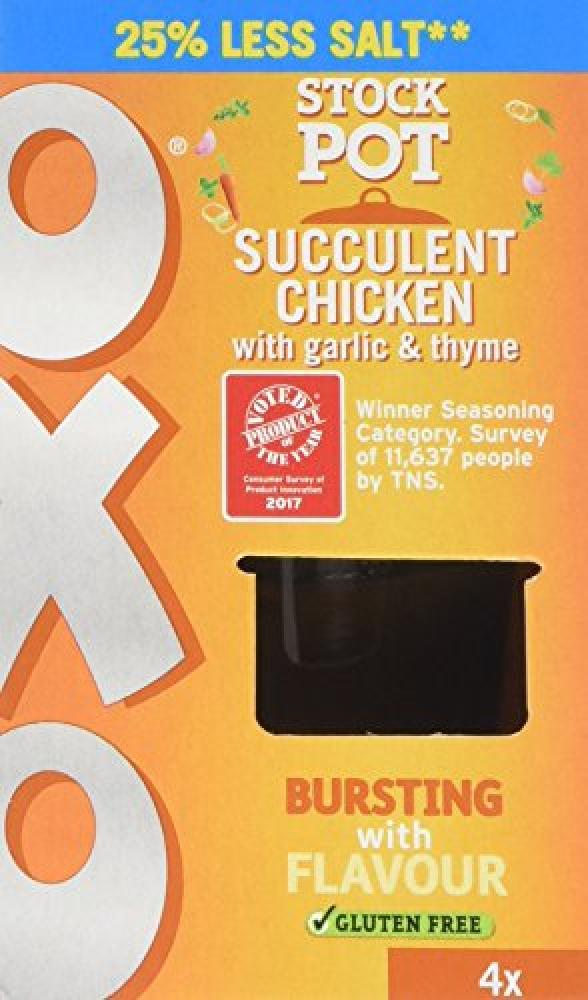 Oxo Reduced Salt Chicken with Garlic and Thyme Stock Pot 20g x 4