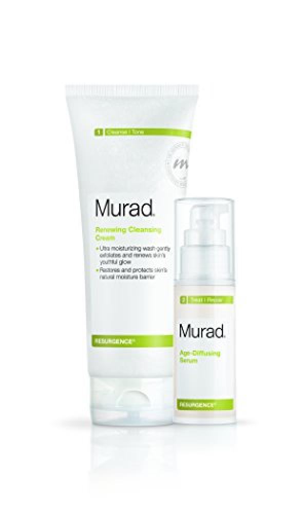 Murad Resurgence Renewing Cleansing Cream 200 ml and Age-Diffusing Serum 30 ml Duo Set