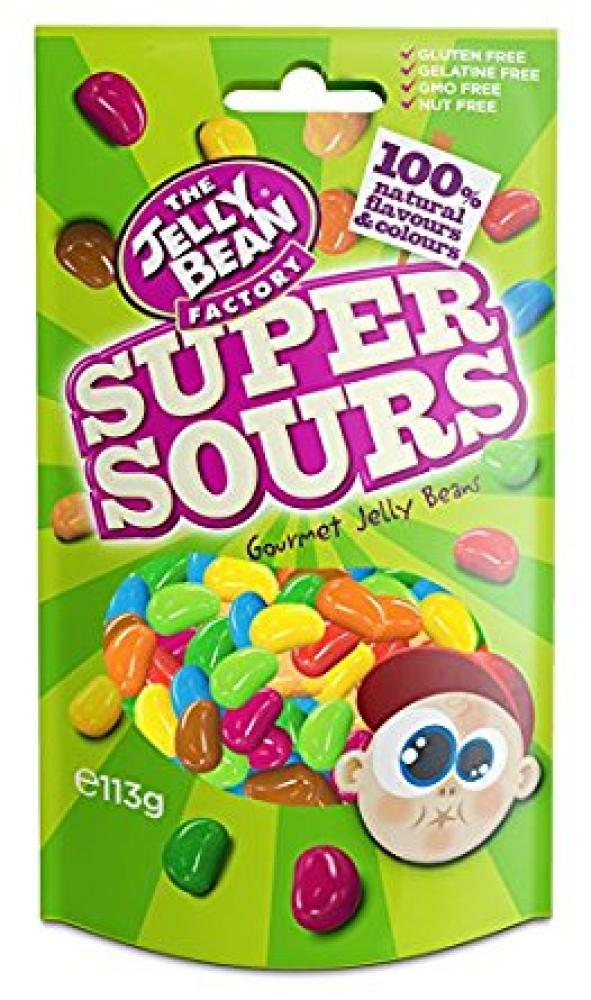 The Jelly Bean Factory Super Sour Jelly Beans in a Bag 113g