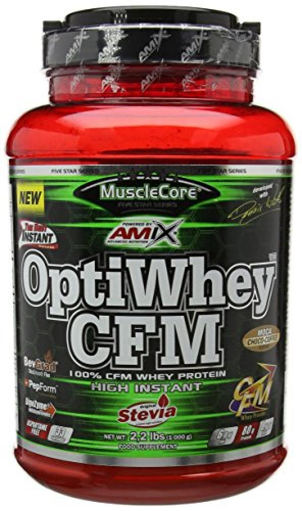 Amix MuscleCore Mocha Chocolate Opti Whey CFM Protein Supplement 1000g