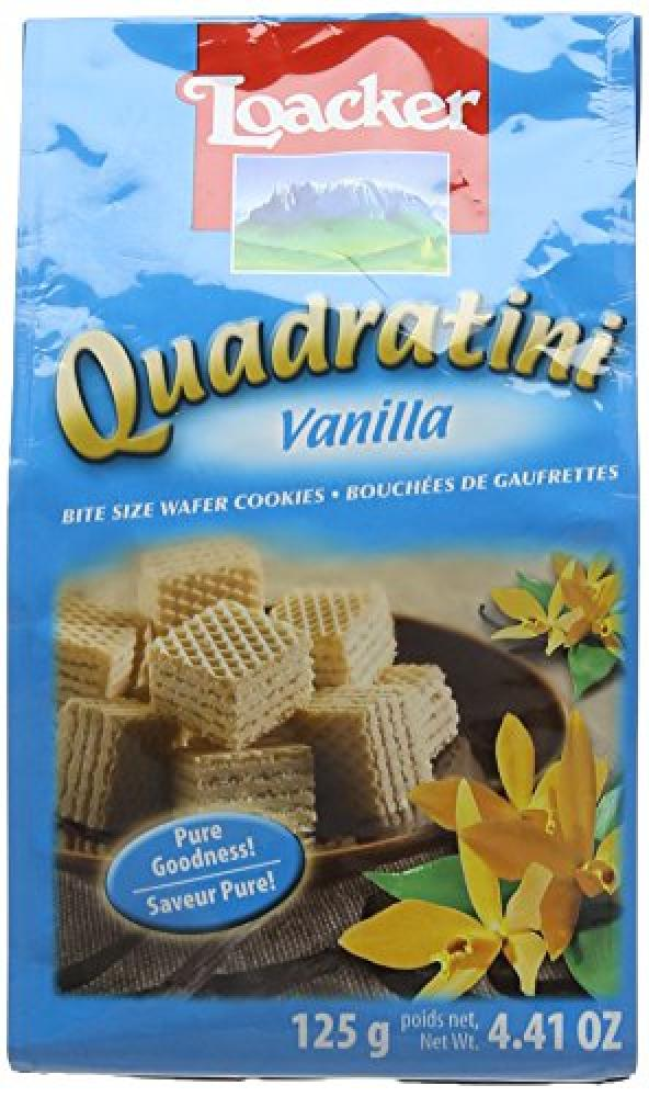 Loacker Vanilla Quadratini Wafer Biscuits 125g